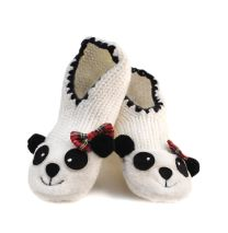 Ladies PANDA Non-Skid Slipper Socks