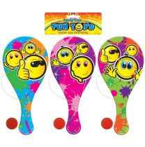 Smiley Face Paddle Bat with Ball