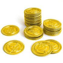Twelve Gold Pirate Coins