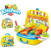 Kids Kitchen Play Set Carry Case Toy New