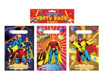 12 Super Hero Themed Party Bags