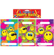 12 Smiley Face Themed Party Bags