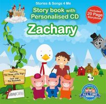 Personalised Songs & Story Book for Zachary