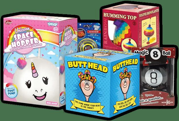 A huge range of toys